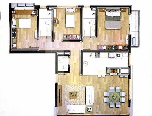 apartamento - menino deus - ref: 190654 - v-190654