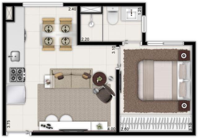 apartamento minha casa minha vida centro de sp metro brás