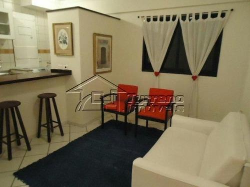 apartamento mobiliado 1 dormitório, sacada e 1 vaga no jardim esplanada