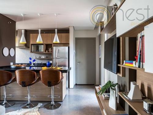 apartamento mobiliado - 2 dormitórios - à venda, água verde, curitiba. - ap0447