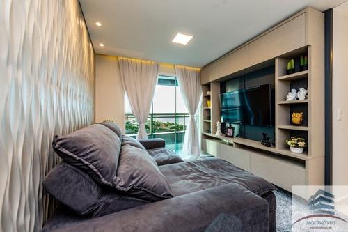 apartamento mobiliado a venda duna barcane, ponta negra