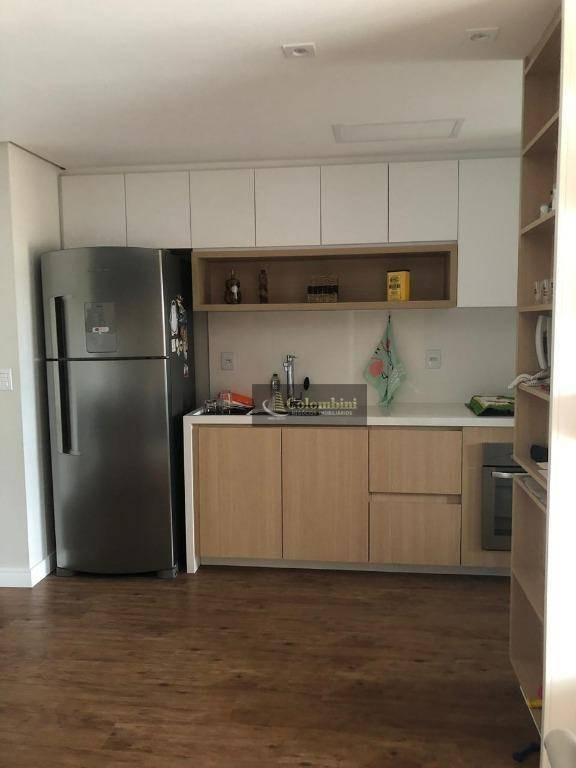 apartamento mobiliado com 2 dormitórios à venda, 87 m² por r$ 820.000 - jardim são caetano - são caetano do sul/sp - ap0869