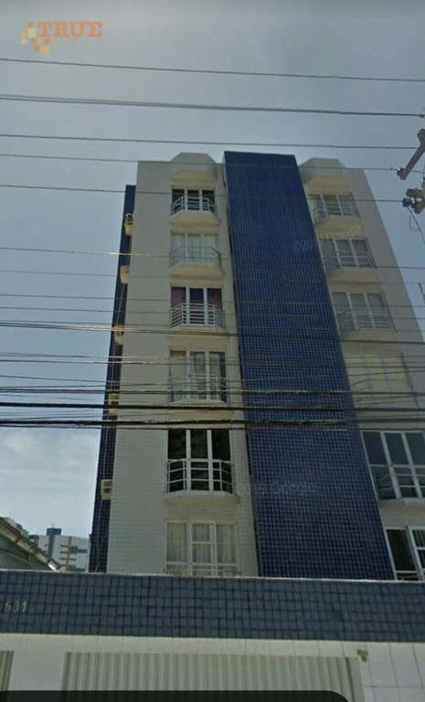 apartamento mobiliado com 3 dormitórios, sendo 1 suíte, à venda, 80 m² por r$ 315.000 - boa viagem - recife/pe - ap3473