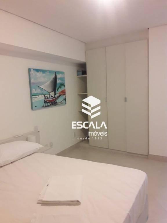 apartamento mobiliado com area de lazer  a beira mar - ap1451