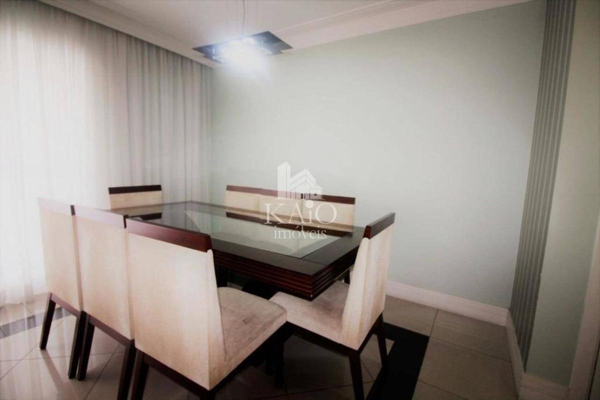 apartamento mobiliado de  114m², varanda gourmet, 3 vagas