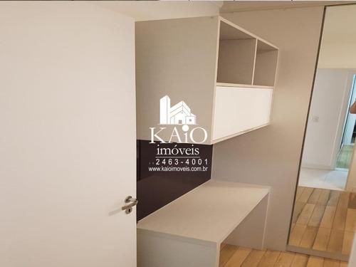 apartamento mobiliado de 95m² com 3 dormitórios 1 suite 2 vagas no parque ventura - ap1196