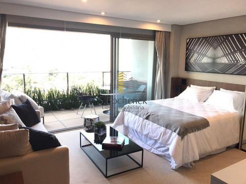 apartamento mobiliado e decorado no brooklin 1 suíte 1 vaga  - bk005