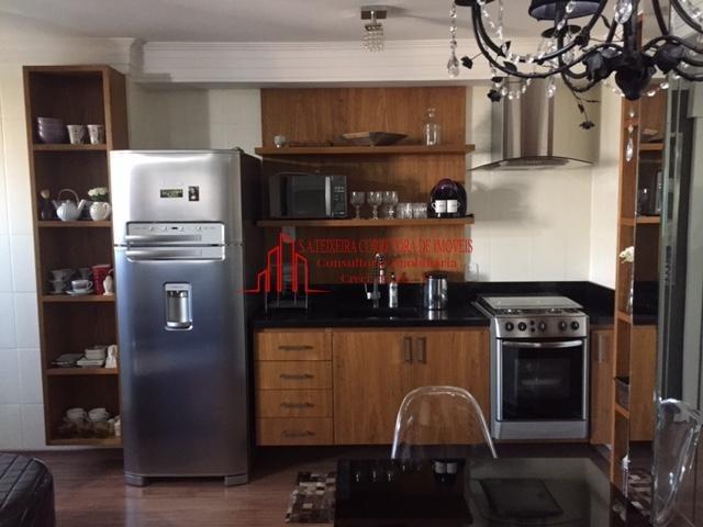 apartamento mobiliado e lazer centro de santo andre 01 dorm - 819