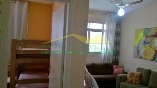 apartamento mobiliado no canto do forte, 2 dormitórios, confira na imobiliária em praia grande. - mp11133