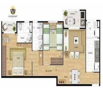 apartamento mobiliado  no condomínio practice   69 m² por r$ 2.100/mês - practice club house - jundiaí/sp - ap1299