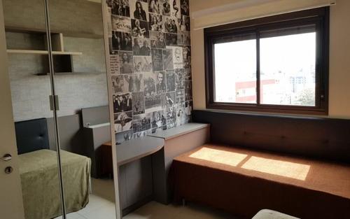 apartamento mobiliado vista livre 2 dormitórios 2 vagas no cristal park itacorubi