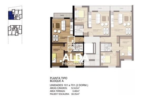 apartamento montevideo brazo oriental 1 dormitorio 1 baño venta