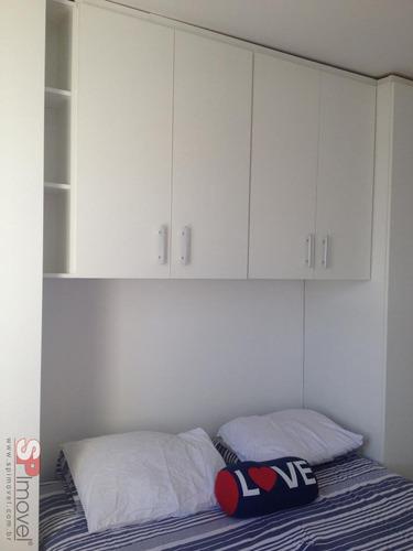 apartamento mooca 2 dormitórios 1 banheiros 1 vagas 48 m2 - 2655