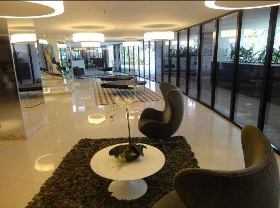 apartamento na beira mar, landscape, 12º andar, vista mar, mobiliado, 66m², 2 vagas. - ap1436