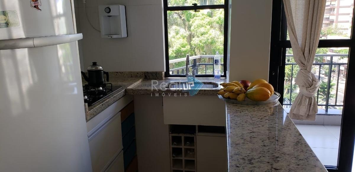 apartamento na gávea, 2 quartos e 1 vaga - 17816