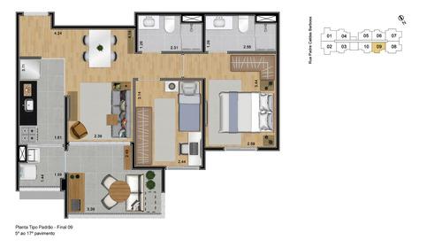 apartamento na planta