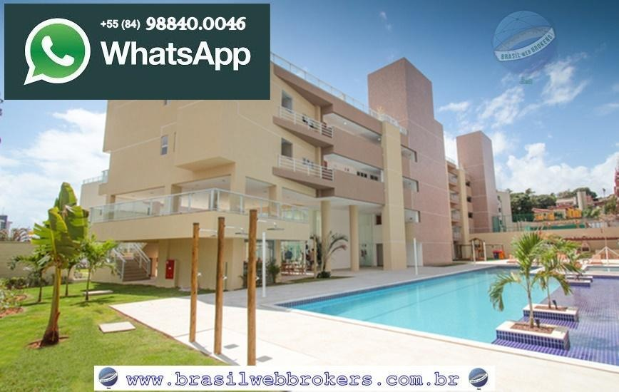 apartamento na praia de pirangi, com 3 quartos - pirangi villas - ap0032