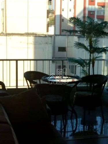 apartamento na quadra da praia de icaraí - 2 quartos com 1 vaga - ap2131