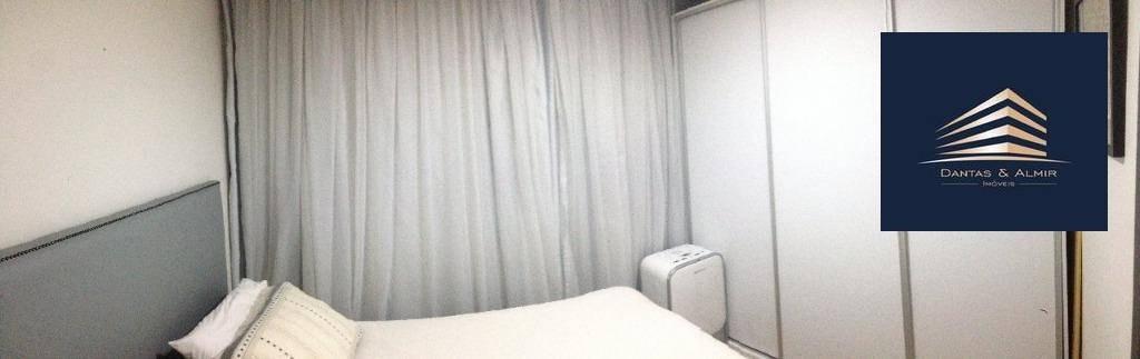 apartamento na vila augusta, 75m², 2 dormitórios, 1 suíte, 2 vagas, condomínio suprema. - ap0666