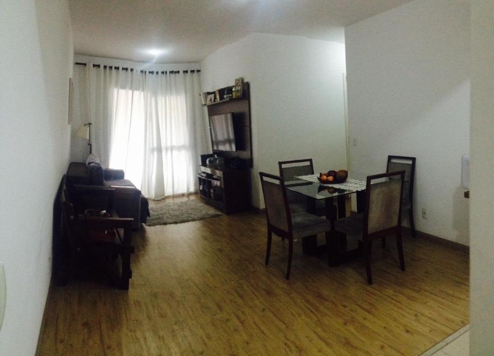 apartamento na vila augusta, 82m² com 3 dormitórios e 2 vaga