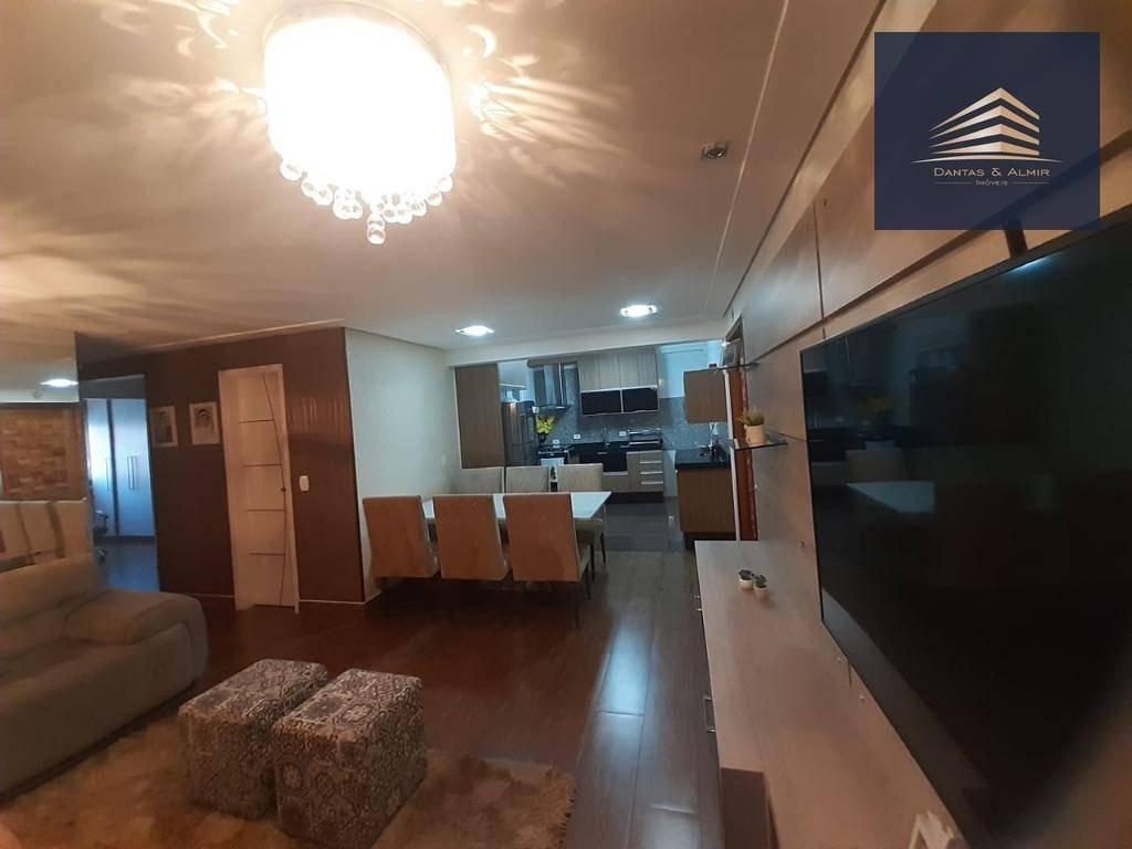 apartamento na vila augusta, condomínio supremo 95m², 3 dormitórios, 1 suíte, 2 vagas. - ap0899