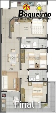 apartamento na vila guilhermina em praia grande - 2658