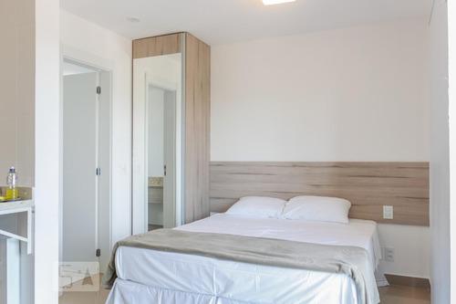 apartamento no 13º andar mobiliado com 1 dormitório e 1 gara