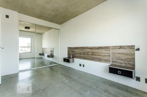 apartamento no 15º andar mobiliado com 1 dormitório e 1 gara
