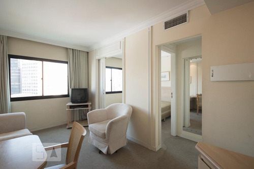 apartamento no 18º andar mobiliado com 1 dormitório e 1 gara