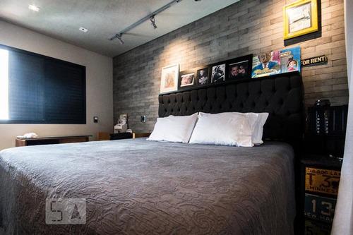apartamento no 20º andar com 2 dormitórios e 2 garagens - id