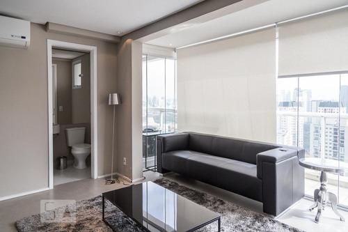apartamento no 25º andar mobiliado com 1 dormitório e 1 gara