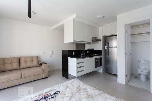 apartamento no 4º andar mobiliado com 1 dormitório e 1 garag