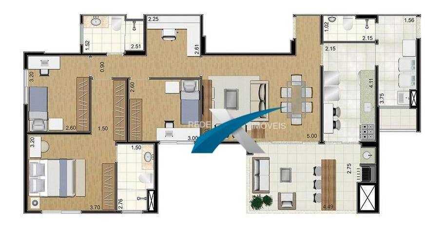 apartamento no 7º andar condomínio varandas ipoema em mogi das cruzes - ap4966