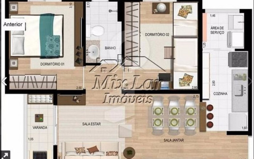 apartamento no bairro do jardim santo antonio - osasco sp, com 48 m², sendo 2 dormitórios, sala, cozinha, banheiro e 1 vaga de garagem