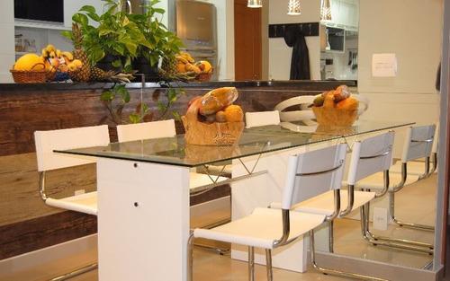 apartamento no bairro do tamboré - santana de parnaíba sp, com 100 m², sendo 3 dormitórios 1 com suíte, sala, cozinha, 3 banheiros e 2 vagas de garagens