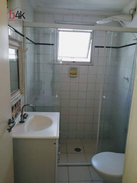 apartamento no brooklin com 60m², 2 quartos,1 banheiro, 1 vaga - são paulo - ap3076