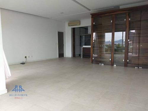 apartamento no cacupé, venda ou aluguel. linda vista para o mar, 3 suítes, sacada com churrasqueira, 3 vagas de garagem e hobby box - ap2297