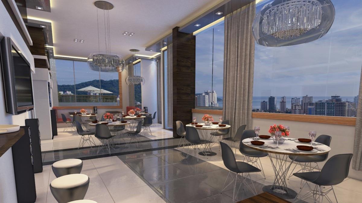 apartamento no canto do forte praia grande r$ 247.500 cr