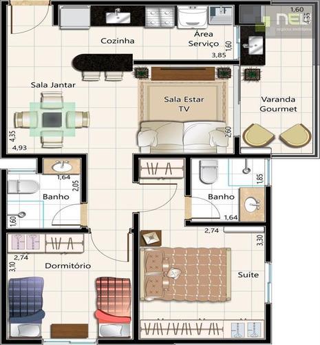 apartamento no centro - ap0400