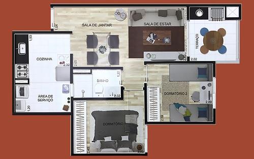 apartamento no centro de santo andré 52m²