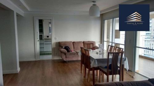 apartamento no condomínio parque clube, 150m², 3 suítes, 2 vagas, estuda permuta. - ap0678