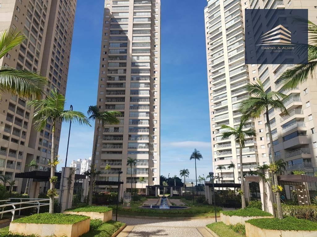 apartamento no condomínio parque clube, vila augusta, 134m², 3 suítes, 2 vagas. - ap0003