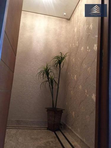 apartamento no condomínio parque clube, vila augusta, 134m², 3 suítes, 2 vagas. - ap0580