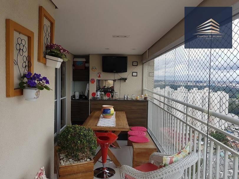 apartamento no condomínio parque clube, vila augusta, 92m², 2 suítes, 2 vagas. - ap0759