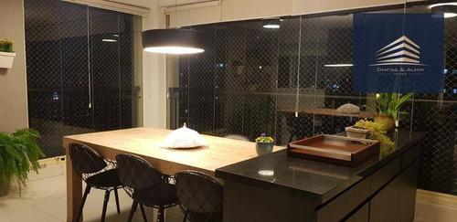 apartamento no condomínio square, 134m², 2 suítes, 2 vagas, estuda permuta. - ap0745