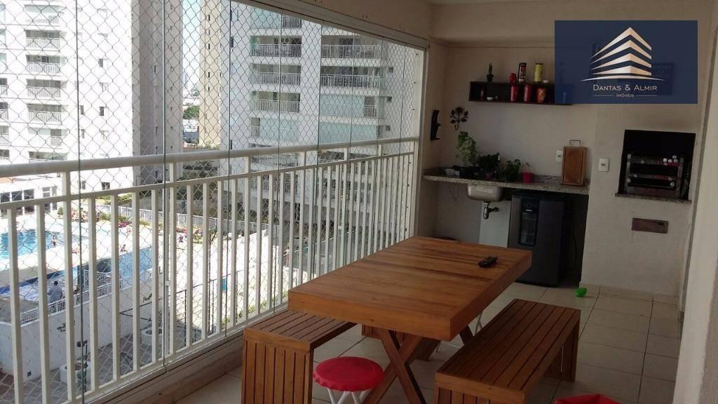 apartamento no condomínio supera vila augusta 128m², 3 suítes, 3 vagas. - ap0566
