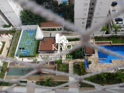apartamento no fatto quality vila augusta de 67m² com 2 dormitórios, lazer completo - ap1170