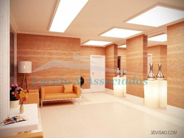apartamento no forte, 02 dormitórios sendo 02 suítes - ap00376 - 2593396