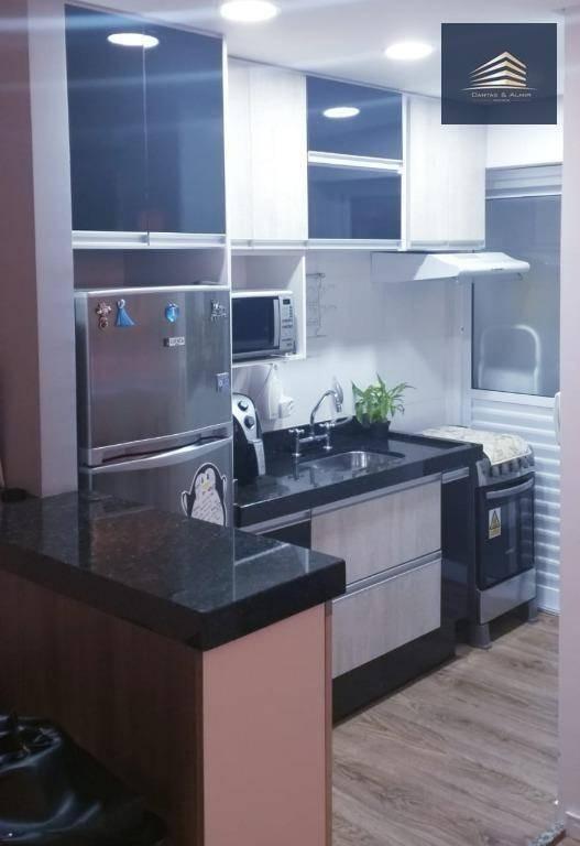 apartamento no inside no gopouva, 2 dormitórios, 1 suíte, 1 vaga. - ap0775