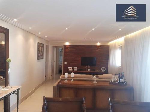 apartamento no macedo em guarulhos, condomínio square - 162 m²-  aceita troca. - ap0508